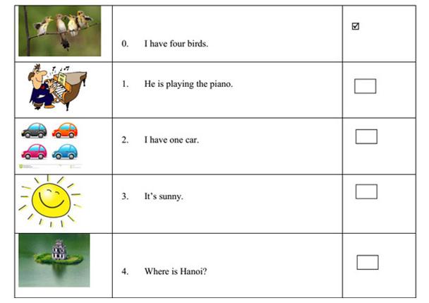 Bài tập tiếng Anh lớp 3 cho bé 8 tuổi theo chương trình mới
