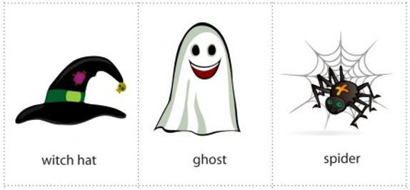 Flashcards tiếng Anh cho trẻ em chủ đề Halloween