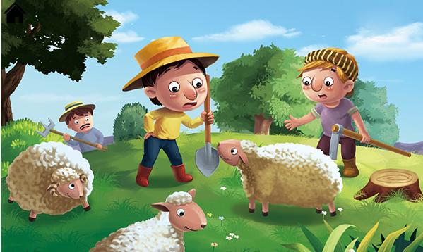 Học tiếng Anh cho trẻ em lớp 4 qua truyện Cậu bé chăn cừu