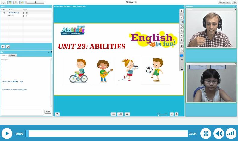 Phòng học tiếng Anh trực tuyến hiệu quả dành cho trẻ em lớp 2