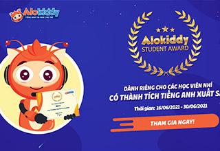 """""""Alokiddy Student Award"""" - Giải thưởng dành cho các học viên xuất sắc của Alokiddy"""