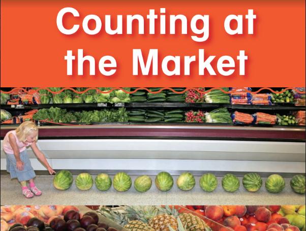 Sách toán bằng tiếng Anh Counting at the Market dạy trẻ cách đếm