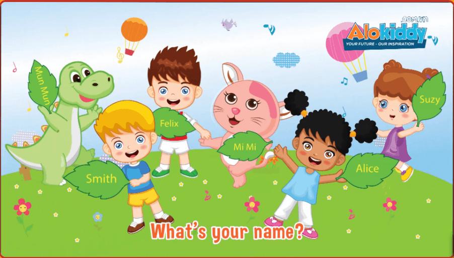 Luyện nói tiếng Anh trẻ em mẫu giáo qua Unit 1 What's your name?