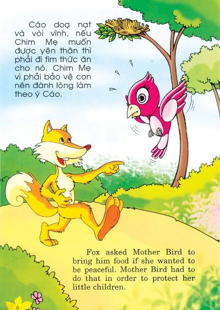 Truyện tiếng Anh cho trẻ - Mưu kế của chim