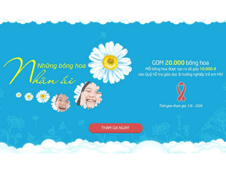 """Sao Việt và cộng đồng mạng hưởng ứng chiến dịch """"Những bông hoa nhân ái"""" vì trẻ em HIV"""