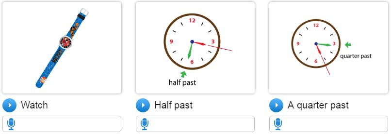 Bài học tiếng Anh lớp 4 unit 13 What time is it?