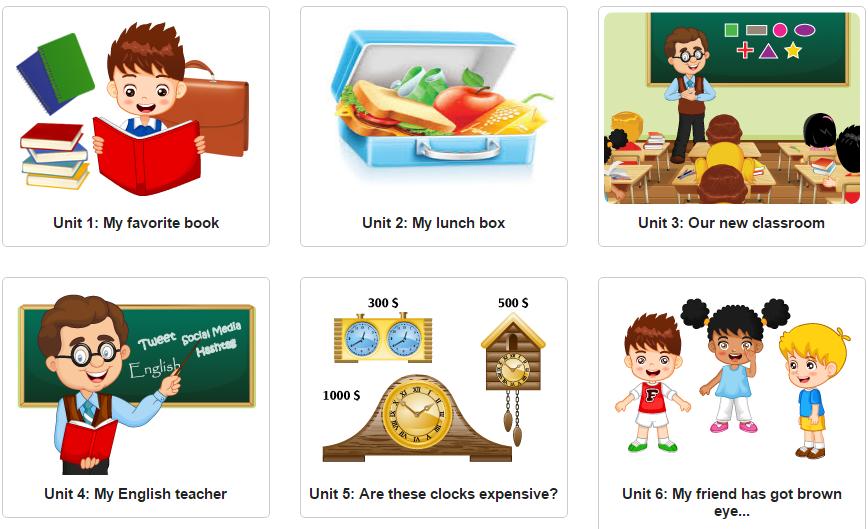 Bài tập tiếng Anh cho trẻ lớp 3 nâng cao