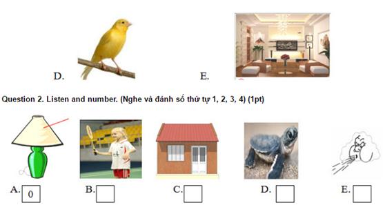 Bài tập tiếng Anh lớp 3 học kỳ 2 để bé ôn tập