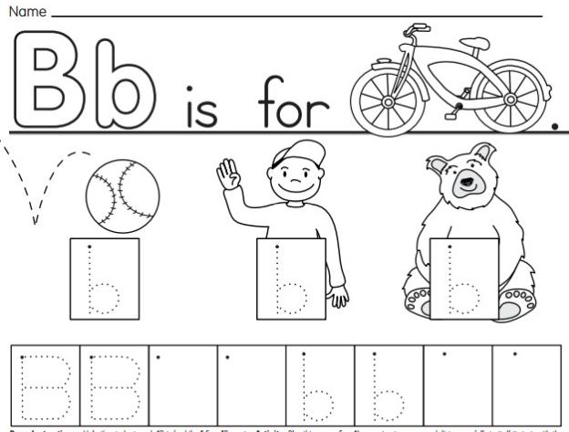 Bảng chữ cái tiếng Anh qua hình cho bé mẫu giáo