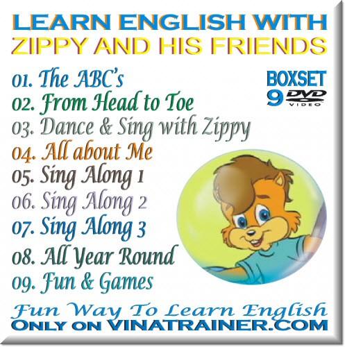 Bộ đĩa học tiếng Anh Learn English with Zippy and his Friends cho lớp 1