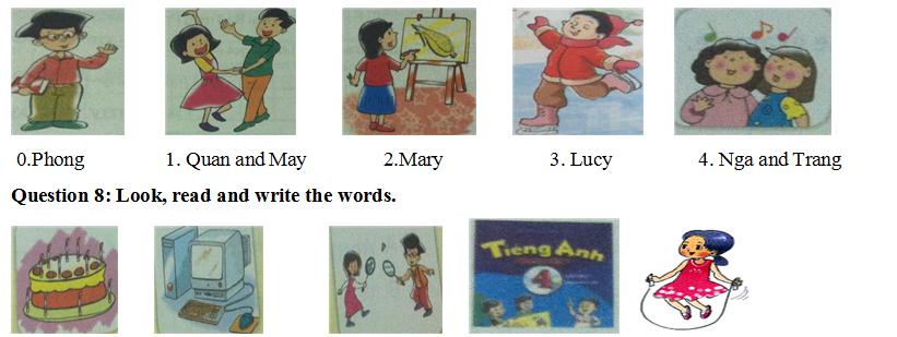 Đáp án đề thi tiếng Anh lớp 4 dành cho bé học kỳ I