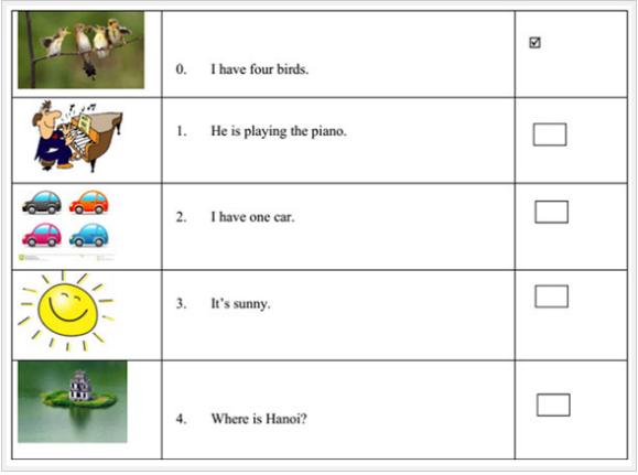 Đề kiểm tra tiếng Anh lớp 3 chương trình mới