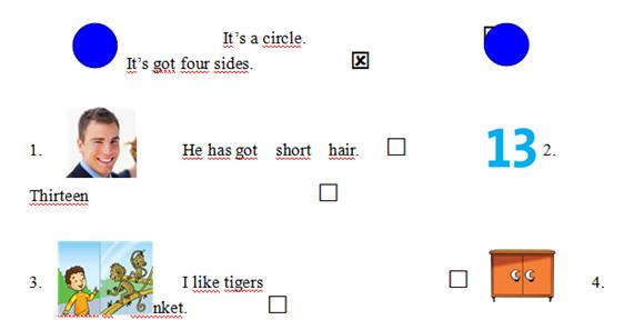 Lời giải đề thi ôn tập tiếng Anh lớp 4 kì 1