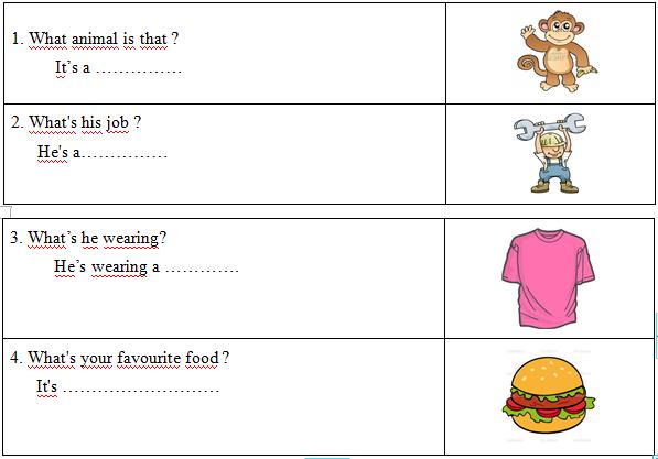 Lời giải đề thi tiếng Anh lớp 4 cuối kỳ 1 cho bé