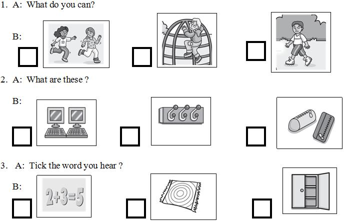 Lời giải kiểm tra học kỳ II tiếng Anh cho trẻ lớp 4