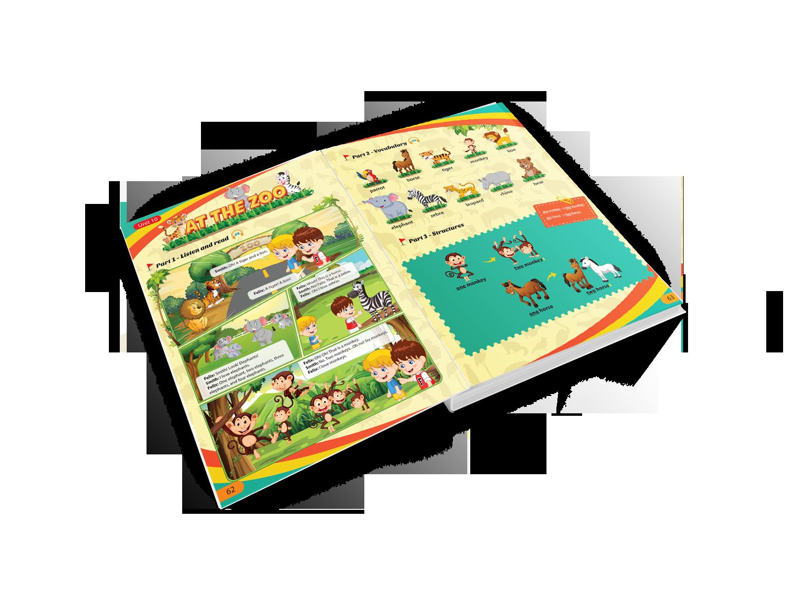 Sách học tiếng Anh cho trẻ em Kid's Friends của Alokiddy