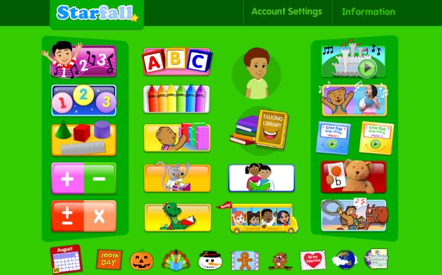 Starfall Free cho Android ứng dụng học tiếng Anh trên điện thoại di động